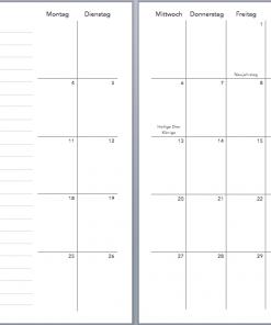 Taschenkalender 2021 Planer 2021 weekly edition weißer Marmor